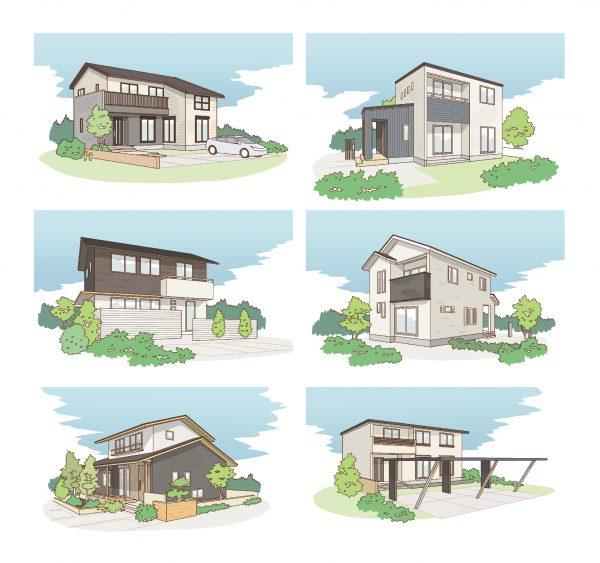 新築住宅のイラストパース